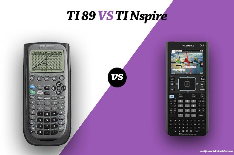 TI 89 VS TI NSPIRE