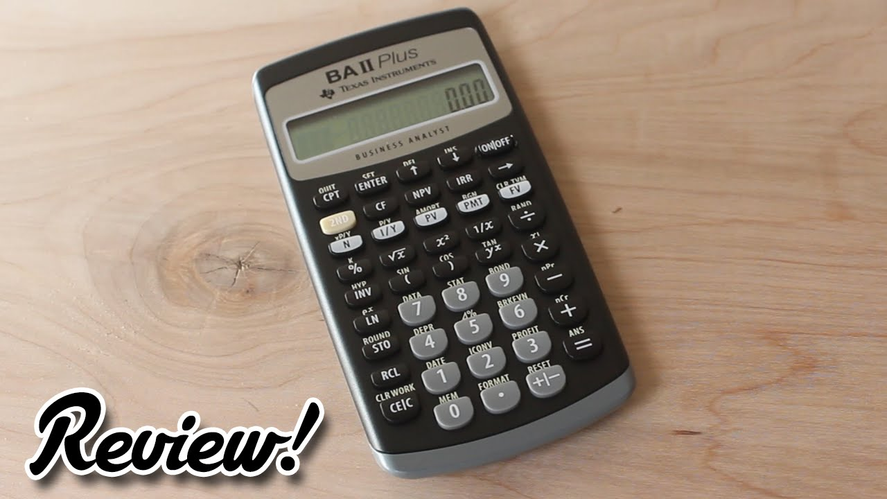 Texas Instruments BA ii plus review